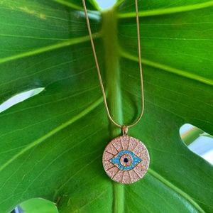 """Evil Eye Necklace""""BLUE"""""""